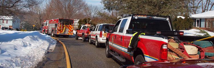 Goshen Fire Company - apparatus at fire scene